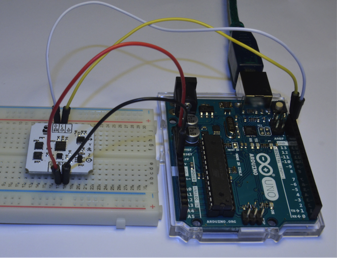 arduino bluetooth gloves sensor connected to the Arduino board